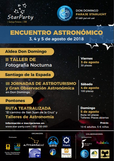 Star Parties península 2018